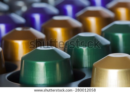 choice between different coffees - stock photo