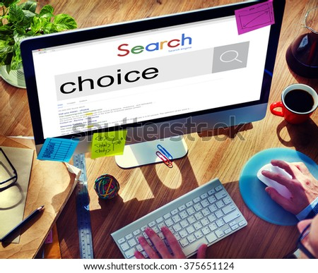 Choice Choosing Decision Selection Concept - stock photo
