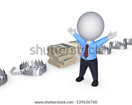 Choice concept.Isolated on white.3d rendered. - stock photo