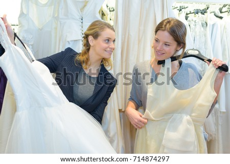 choice of a wedding gown