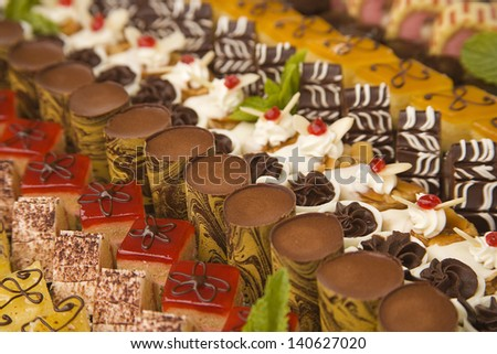 choice of assorted chocolates and desserts