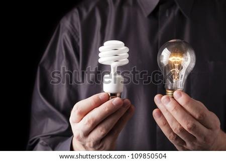 Choice of energy - stock photo