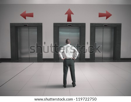 Choices of a businessman concept - stock photo