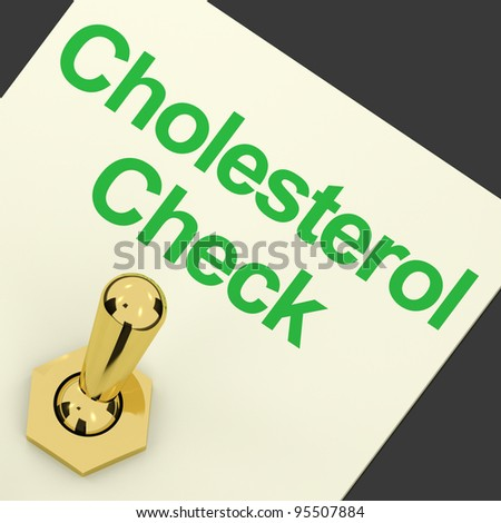 Cholesterol Check Switch On As Check For Hdl Level - stock photo
