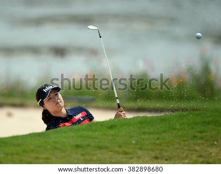 CHON BURI, THAILAND - FEBRUARY 28: In Gee Chun of South Korea in action during the 2016 Honda LPGA Thailand at Siam Country Club  2016 on February 28, 2016 in Chon Buri, Thailand