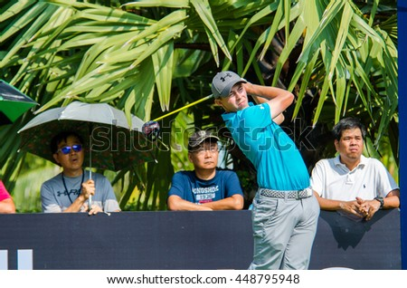 CHONBURI - DECEMBER 10 : SMatthew Fitzpatrick of England player in Thailand Golf Championship 2015 at Amata Spring Country Club on December 10, 2015 in Chonburi, Thailand. - stock photo