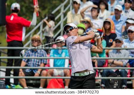 CHONBURI - FEBRUARY 27: Lee-Anne Pace of South Africa in Honda LPGA Thailand 2016 at Siam Country Club, Pattaya Old Course on February 27, 2016 in Chonburi, Thailand. - stock photo