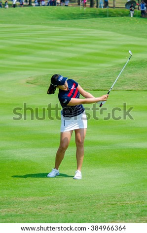 CHONBURI - FEBRUARY 28 : of In Gee ChunSouth Korea in Honda LPGA Thailand 2016 at Siam Country Club, Pattaya Old Course on February 28, 2016 in Chonburi, Thailand.