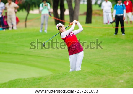 CHONBURI - MARCH 1: Chella Choi of South Korea in Honda LPGA Thailand 2015 at Siam Country Club, Pattaya Old Course on March 1, 2015 in Chonburi, Thailand.