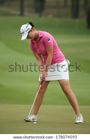 Chonburi, Thailand - FEB 21:Caroline Masson of Germany participate in a Honda LPGA Thailand 2014 at Siam Country Club Pattaya Old Course on February 21, 2014 in Chonburi, Thailand.