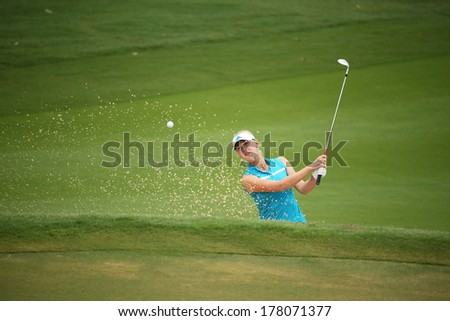 Chonburi, Thailand - FEB 21:Jessica Korda of USA participate in a Honda LPGA Thailand 2014 at Siam Country Club Pattaya Old Course on February 21, 2014 in Chonburi, Thailand.