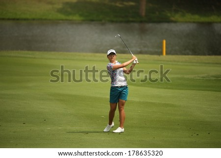 Chonburi, Thailand - FEB 22:Lydia Ko of New Zealand participate in a Honda LPGA Thailand 2014 at Siam Country Club Pattaya Old Course on February 22, 2014 in Chonburi, Thailand.