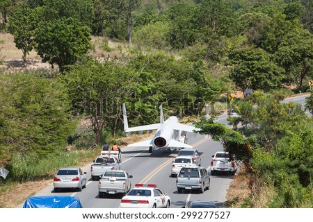 CHONBURI,THAILAND - JULY 23,2015 :The Royal Thai Navy bring the old aircraft to the museum