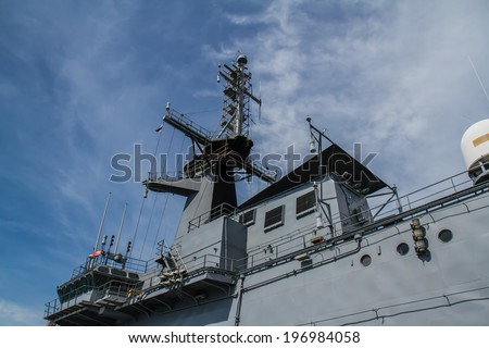 CHONBURI, THAILAND - MAY 11: The FAST FRIGATE ,FF battle ship was shown for Thai people and tourist to visit at Sattahip Naval Base on May 11,2014 in Chonburi, Thailand . - stock photo