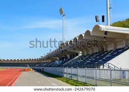 Chonburi Thailand,2014 May 21.View of Navy Stadium in Chonburi Thailand on May 21,2014. - stock photo