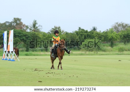 Chonburi, Thailand, September 14, 2014:Horses competed Chonburi province Thailand On September 14, 2014