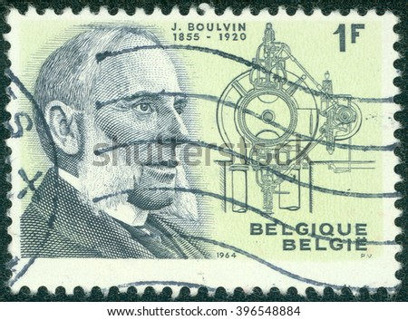 CHONGQING  CHINA, 18 January 2015: stamp printed by Belgium, shows Jules Boulvin Mechanical Engineer, circa 1964 - stock photo
