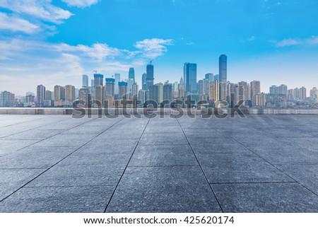 chongqing cityscape - stock photo