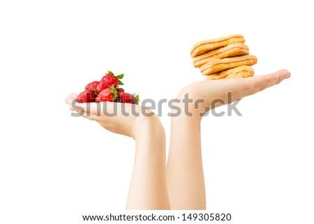 choose healthy food - stock photo