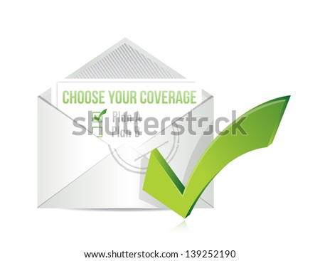 choose your coverage by mail. illustration design over white