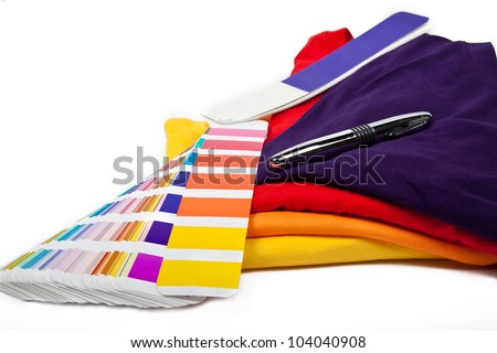 choose your favorite color and put it on t-shirt - stock photo