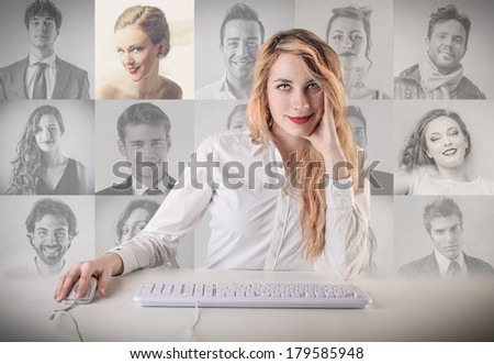 choosing - stock photo