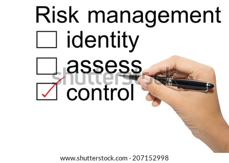 Choosing between risk management identity assess control