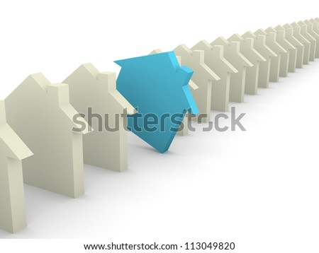 Choosing house concept - stock photo