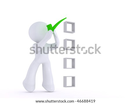 Choosing the correct answer - stock photo