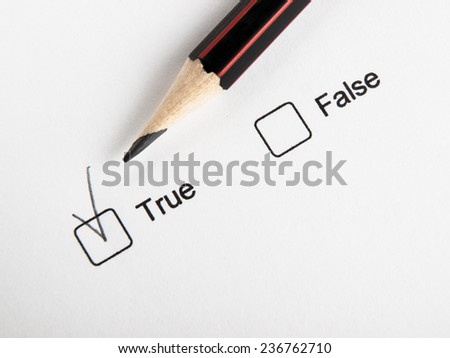 Choosing true - stock photo