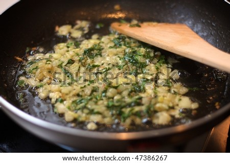 chopped and fried onions