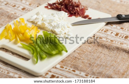 Chopped Ingredients - stock photo