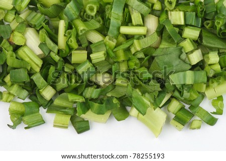 Chopped parsley in white background - stock photo