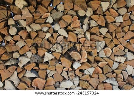 Chopped wood - stock photo