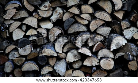 Chopped wood texture background
