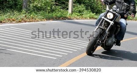chopper bike - stock photo
