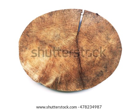 chopping block on isolated white background.