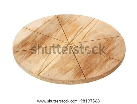 Chopping board for a pizza isolated on a white background. - stock photo