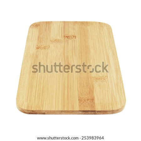 Chopping board isolated on a white background - stock photo