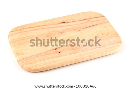 Chopping board isolated on white