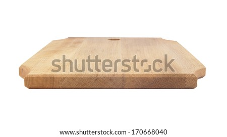 Chopping board isolated on white background - stock photo