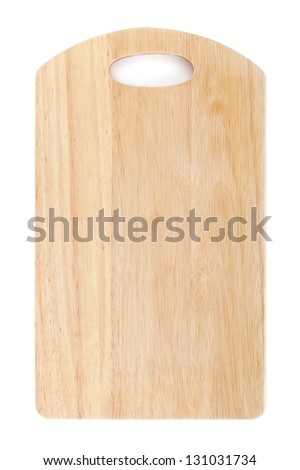 Chopping board. Isolated on white background. View from above - stock photo