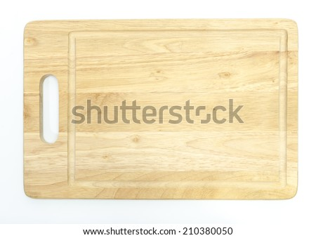 chopping board on white background - stock photo