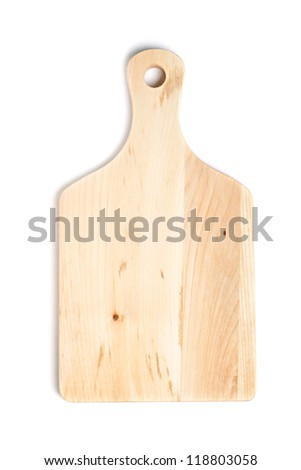 chopping or cutting board on white background - stock photo