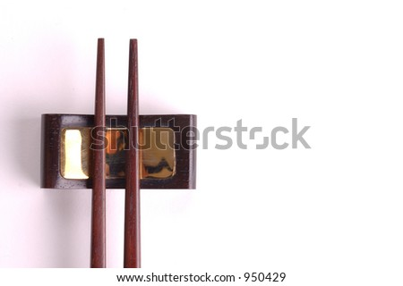 chopstick on a stand - stock photo