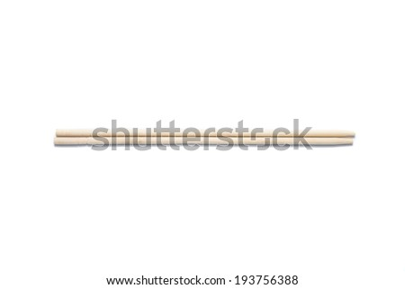 chopsticks on a white background