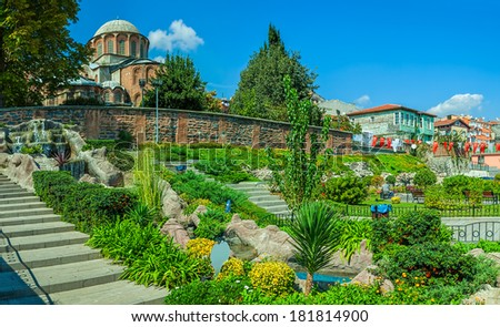 Chora Church is the most beautiful Byzantine church after Hagia Sophia. The church is situated in Edirnekapi neighborhood of Istanbul, which lies in the western part of the municipality of Fatih. - stock photo