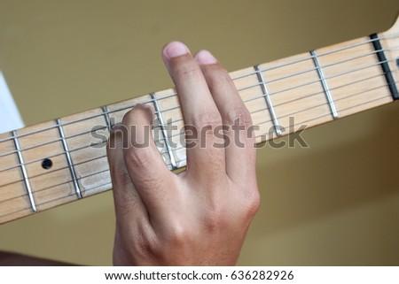 Chord Gm Guitar Closeup Stock Photo Image Royalty Free 636282926