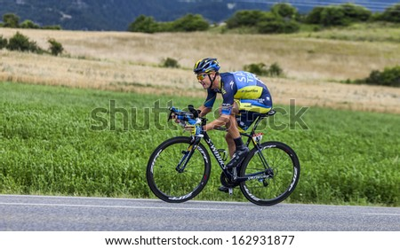 CHORGES, FRANCE- JUL 17:The Irish cyclist Nicolas Roche from Saxo-Tinkoff Team pedaling during the stage 17 of  Le Tour de France 2013, a time trial between Embrun and Chorges on July 17 2013