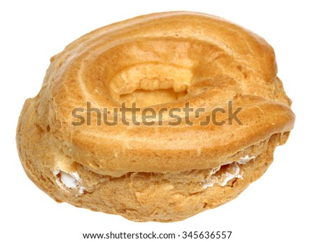 Choux pastry is isolated on a white background